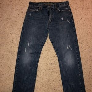 Men's American Eagle relaxed straight denim jeans